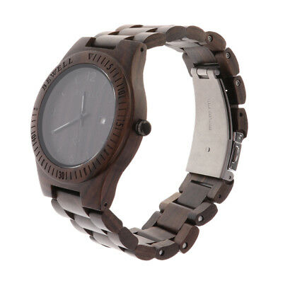 Men Women Wood Watches Analog Quartz Lightweight Handmade Wood Wrist Watch A