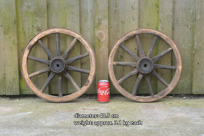 2x vintage old wooden cart wagon wheels wheel 405 cm free 2x vintage old wooden cart wagon wheels wheel 405 cm free delivery publicscrutiny Choice Image