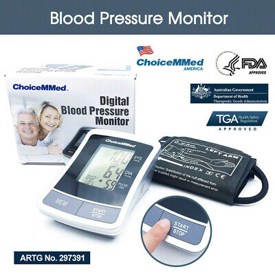 Automatic Digital Blood Pressure Monitor ChoiceMMed Upper Arm Type TGA Approved