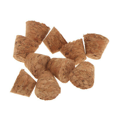 10pcs Conical Natural Cork Bottle Stoppers Wine Corks for Crafts 21x16x20mm