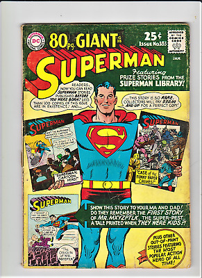 SUPERMAN # 183 January 1966  DC Comics 80 page Giant Annual pg. G18 VG-