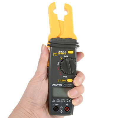 H● CENTER-223 High Resolution Mini AC/DC Clamp Meter