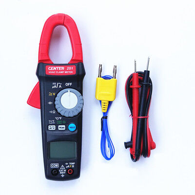 H● CENTER 251  Clamp Meter (HVAC, TRMS) Small-size  PORTABLE / 600V / 10A