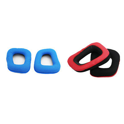 Blue Ear Pad Cushions Earpads for Logitech G35/G930/G430/F450 Headphones