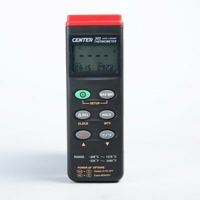 H● CENTER-305 Datalogger Thermometer 3 1/2 Digit LCD