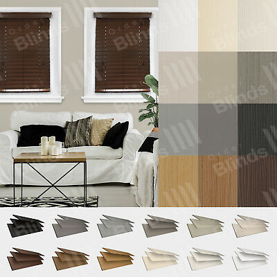 Faux Wood Venetian Blinds Made To Measure Available in 35mm or 50mm Slats