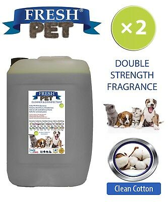 Fresh Pet Kennel Dog Disinfectant Double Strength Fragrance 20L Clean Cotton