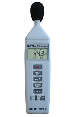Center 325 Compact Size Sound Level Meter Tester 30-130dB Resolution 0.1dB