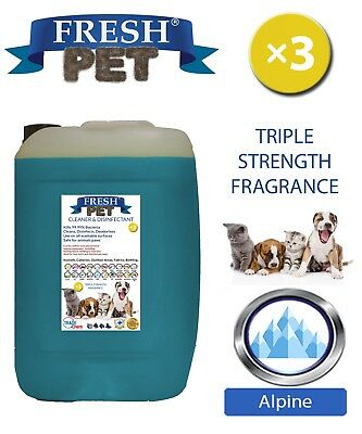 Fresh Pet Kennel Dog Disinfectant Triple Strength Fragrance 20L Alpine