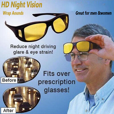 Night Vision Driving Sunglasses Anti Glare Glasses Driver for Men Women Eyewear