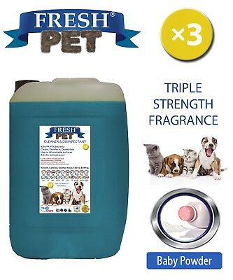Fresh Pet Kennel Dog Disinfectant Triple Strength Fragrance 20L Baby Powder