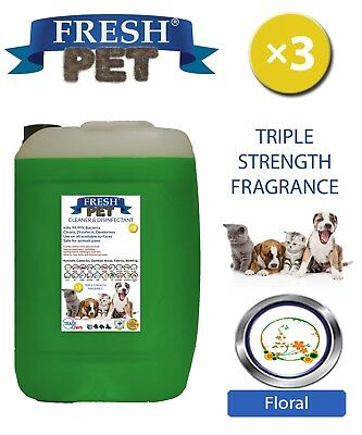 Fresh Pet Kennel Dog Disinfectant Triple Strength Fragrance 20L Floral