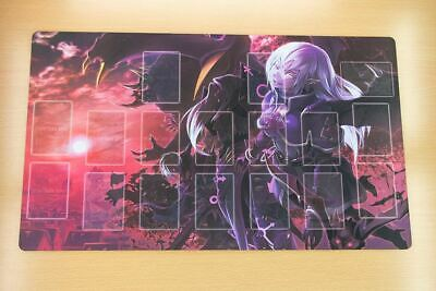 C281# Free Mat Bag Custom Yugioh Playmat Vampire Play Mat Deck Game Mat Zones