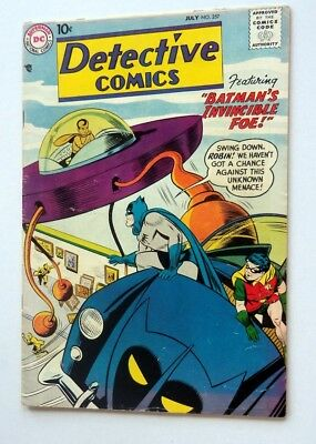 Detective Comics #257 Comic Book 1958 Batman Very Fine- 1St Whirly Bats Ow Pages
