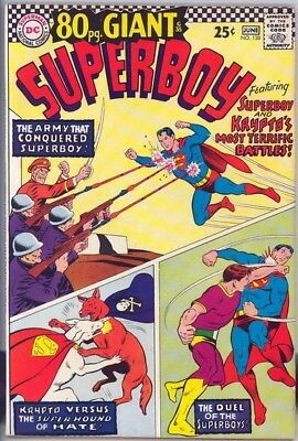 Giant Superboy #138 1967 Original 80 Page Giant Comic Book Very Fine