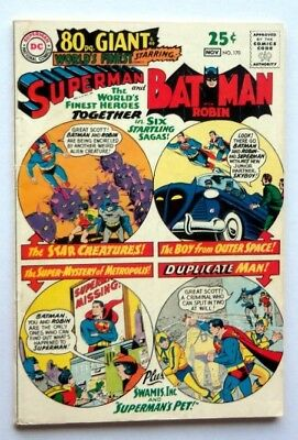 World's Finest Comics #170 1967 80 Page Giant Superman Very Fine+  Ow Pages