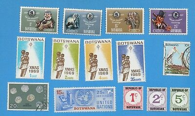 BOTSWANA - scott 54 // 311 & J1-J3, mixed used and VFMNH -
