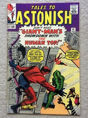 Tales To Astonish #51 Original Marvel Comic Book 1964 Vf Giant Man Human Top