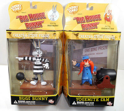 LOONEY TUNES Big House - Bugs Bunny & Yosemite Sam Actionfigur DC DIRECT Neu (L)