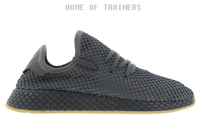 promo code 2d169 7a26d adidas Deerupt Runner Grey Three Grey Four Ftwr White Mens Trainers All  Sizes