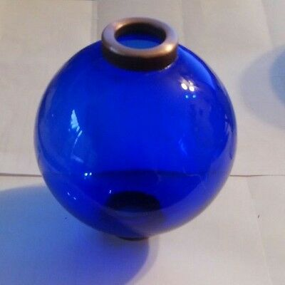 4.5'' BLUE GLASS BALL for weathervane OR LIGHTENING RODS fits 3/4'' rod
