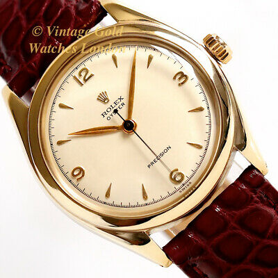 Rolex Oyster Precision, 10Ct 1951, 'Explorer' Style '3-6-9' Dial - Immaculate!