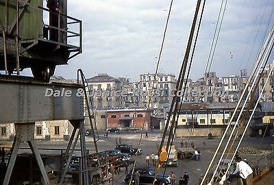 IT004 35mm Slide  Italy Naples Harbor 1954 Red Border Kodachrome Transparency