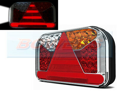 12V 24V Glow-Trac Neon Led Rear Right Hand Tail Lamp Light Ifor Williams Trailer