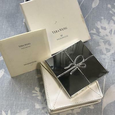 Wedgwood Silver Plated Vera Wang Love Knots Purse Compact Mirror, pouch & box