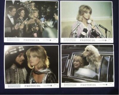 Protocol Mint Original Lobby Card Set Of 8 1984 Goldie Hawn