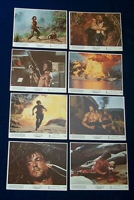 Rambo First Blood Part 2 Mint Lobby Card Set Of 8 1985 Ii Sylvester Stallone