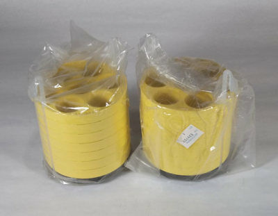 New Pair Beckman Centrifuge Rotor Bucket 7-Place 50ml Tube Adapters # 339103