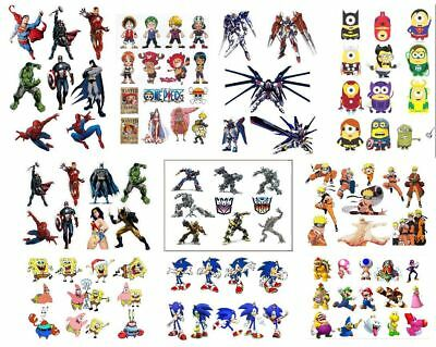 superman batman avenger sonic mario one piece Naruto stickers decal party gift