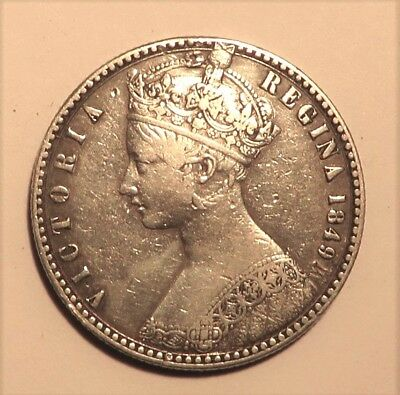 Great Britain Queen Victoria Godless Florin 1849