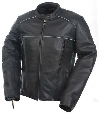 Mossi 20-219-12 Women's Premium Jacket Black Leather 4 Inner Pockets - 12