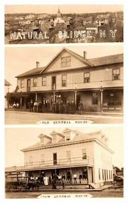 New York  Natural Bridge ,  Central House ,  Multi-view, Old & New, RPC