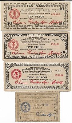 Rare Old WWII Japan War Dollar WW2 Japanese Invasion Big Note Collection Lot:222