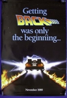 Back To The Future 2 Adv A Rolled Movie Poster 1989 Ii Michael J. Fox