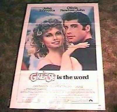 GREASE ORIGINAL 27x41 1 SHEET MOVIE POSTER 1978 JOHN TRAVOLTA OLIVIA NEWTON JOHN