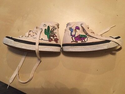 Vintage Looney Tunes Shoes!  Road Runner and Cayote