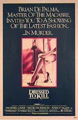 Dressed To Kill Original Rolled 27X41 Movie Poster 1980 Brian Depalma