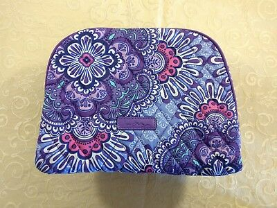 NWT Vera Bradley Large Zip Cosmetic Case Bag in Lilac Tapestry #180423-239