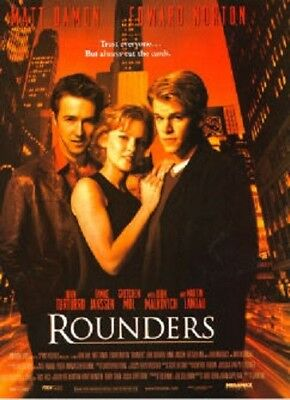 Rounders Original Rolled Movie Poster 1998 Poker Matt Damon Edward Norton