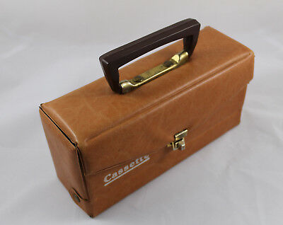 Case of Leather for Transporting Cassettes, Vintage