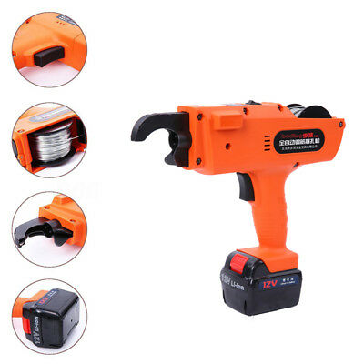 12V Automatic Handheld Rebar Tier Tool Building Tying Machine Strapping 6mm-25mm