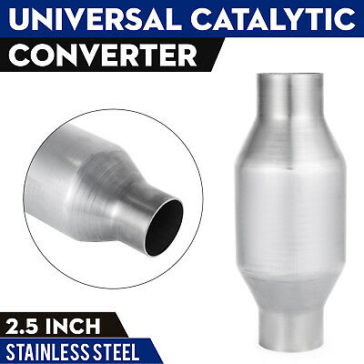 "2.5/"" Universal High Flow Stainless 400CEL Exhaust Catalytic Converter 410250"