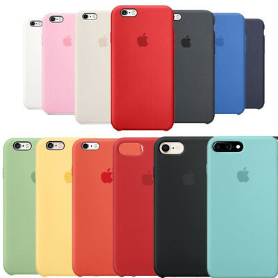 Luxury For Apple iPhone 8 X 8 Plus Original Silicone Cover Ultra-Thin Back Case