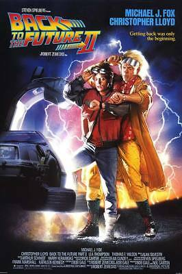 Back To The Future Ii Movie Poster 27X40 Michael J Fox Free Shipping