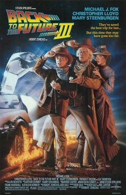 Back To The Future Iii Movie Poster 27X40 Michael J Fox Free Shipping