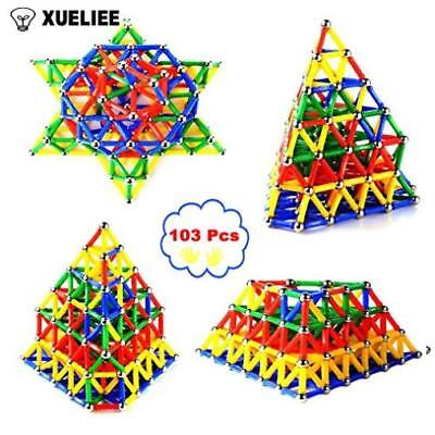 Building Toy Xueliee 103 Pcs Educational Magnetic Sticks Building Blocks Toys Ne